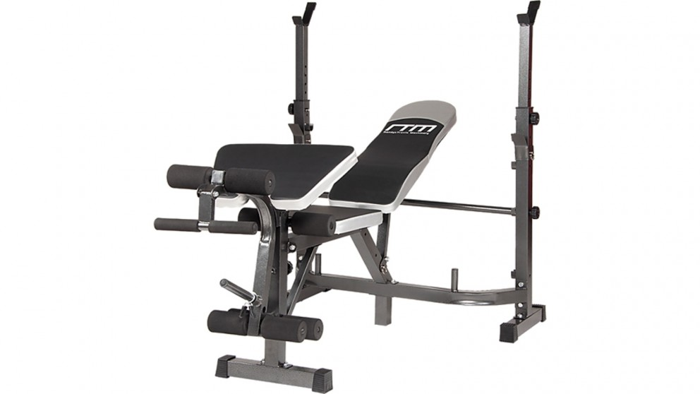 Serrano Multi Station Home Gym Weight Bench Press Leg Equipment Set Fitness Exercise - Black/Silver