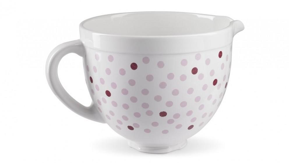 KitchenAid Pink Polka Dot Ceramic Bowl for Stand Mixer
