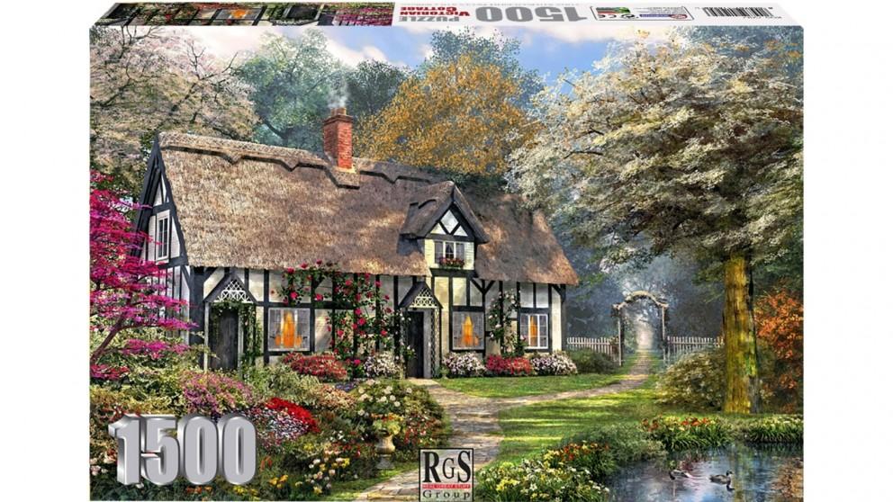 Victorian Garden Cottage 1500 Piece Jigsaw Puzzle