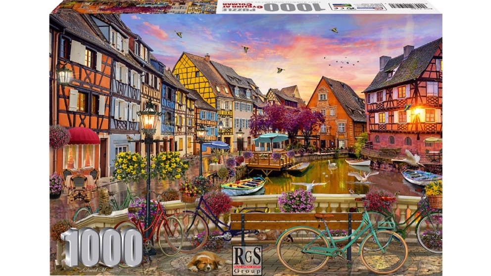 Cycling At Colmal 1000 Piece Jigsaw Puzzle