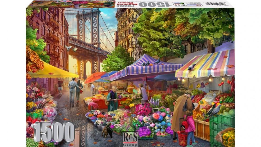 Flower Market Brooklyn 1500 Piece Jigsaw Puzzle