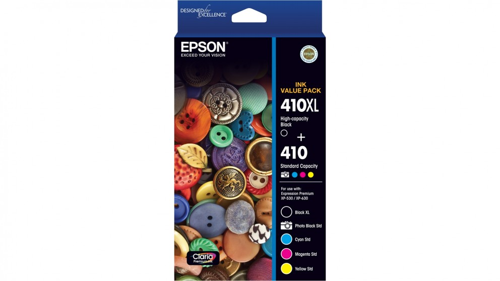 Epson 410 + 410XL Value Pack Ink Cartridge