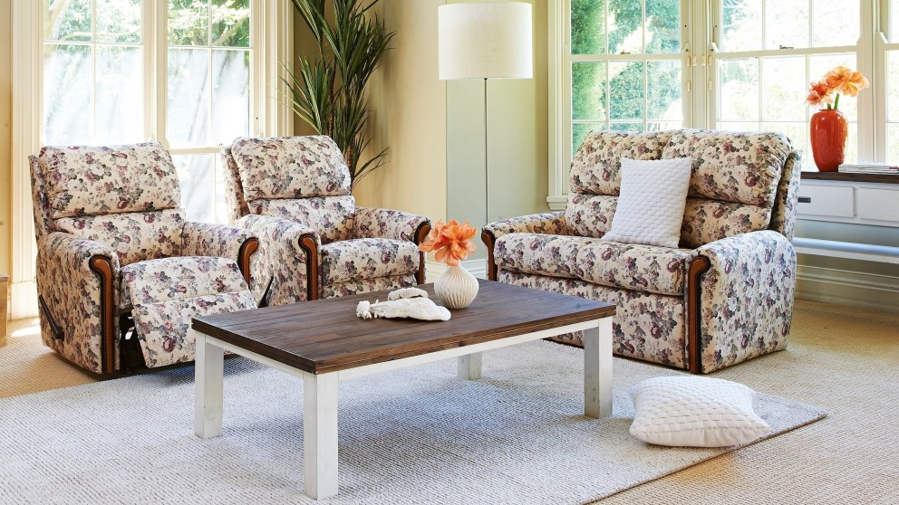Walford 3 Piece Fabric Recliner Lounge Suite