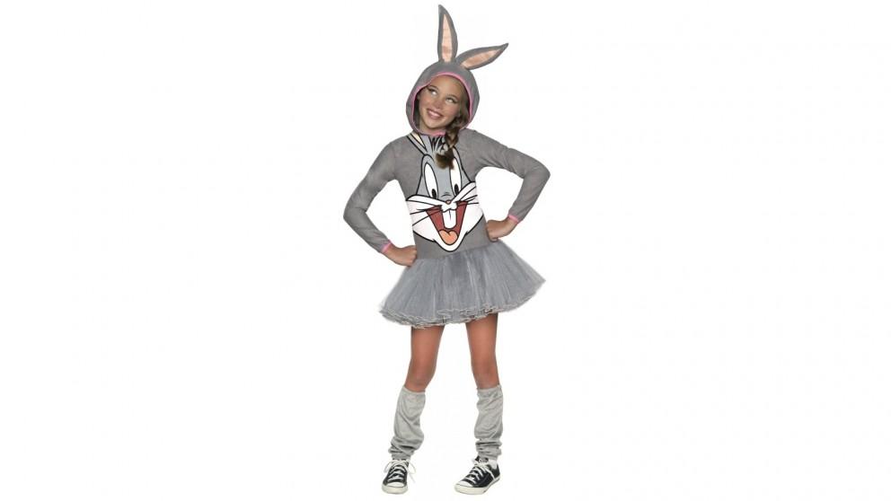 Bugs Bunny Girls Hooded Costume
