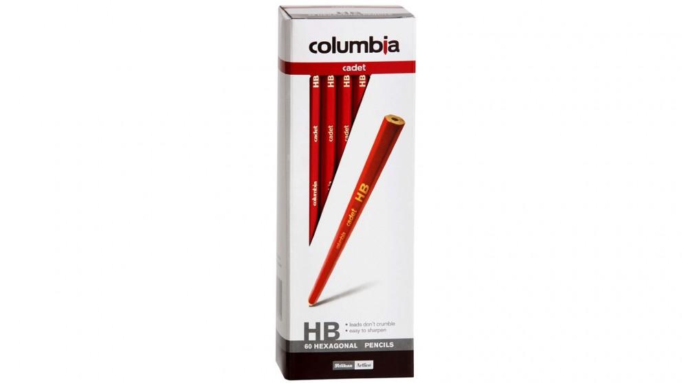 Columbia 60-Piece Cadet HB Hexagonal Pencils