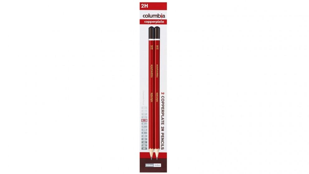 Columbia 2-Piece Copperplate 2H Pencils