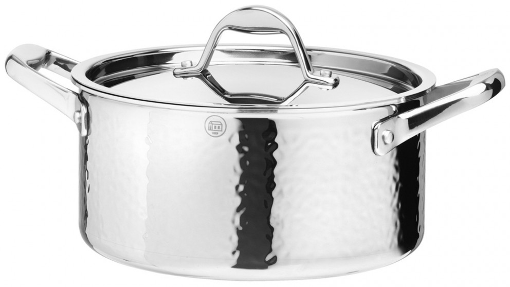 Stern Tri-ply 22x11cm Low Casserole with Stainless Steel Lid 4L