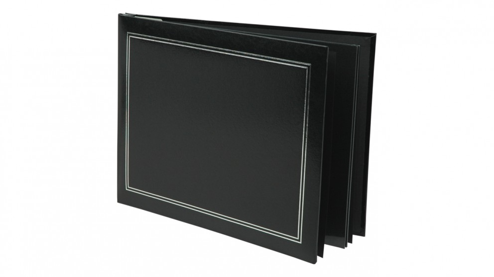 buy ur1 ncl self adhesive jumbo photo album black harvey norman au