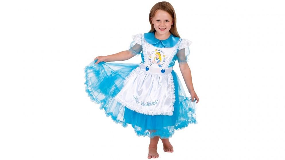Alice in Wonderland Deluxe Child Costume - Size 4 - 6 Years
