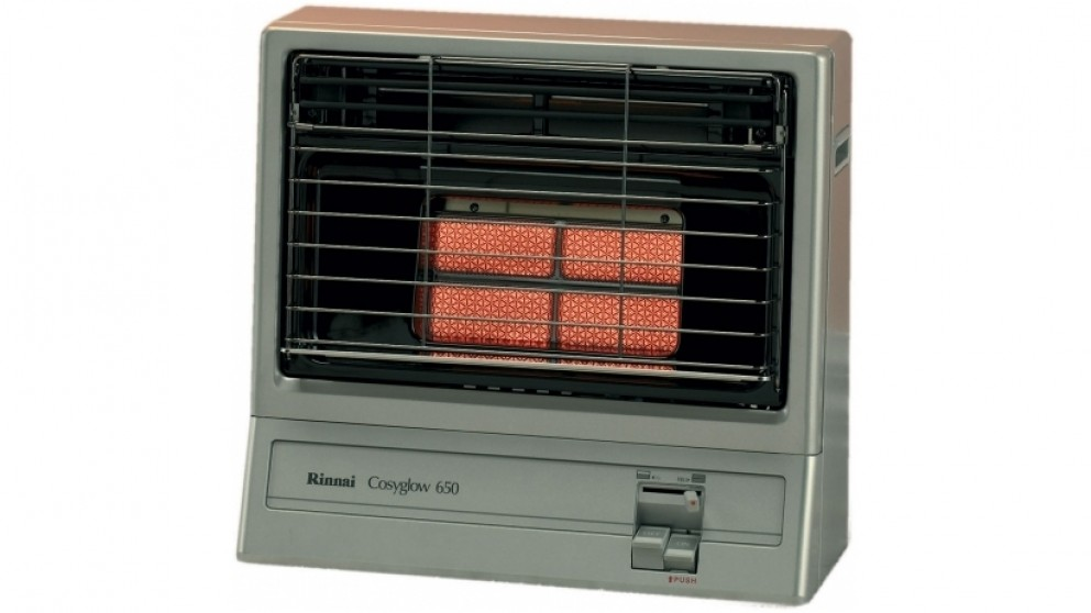 Rinnai Cosyglow Unflued Natural Gas Radiant Heater - Platinum Silver