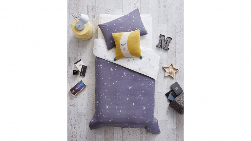 Galaxie Moon Single Quilt Cover Set