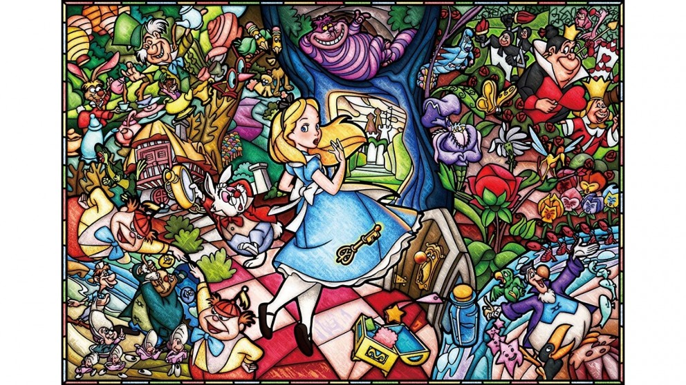 Alice Stained Glass - 1000 Puzzle Pieces