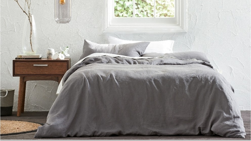 Brooklyn Charcoal Quilt Cover Set