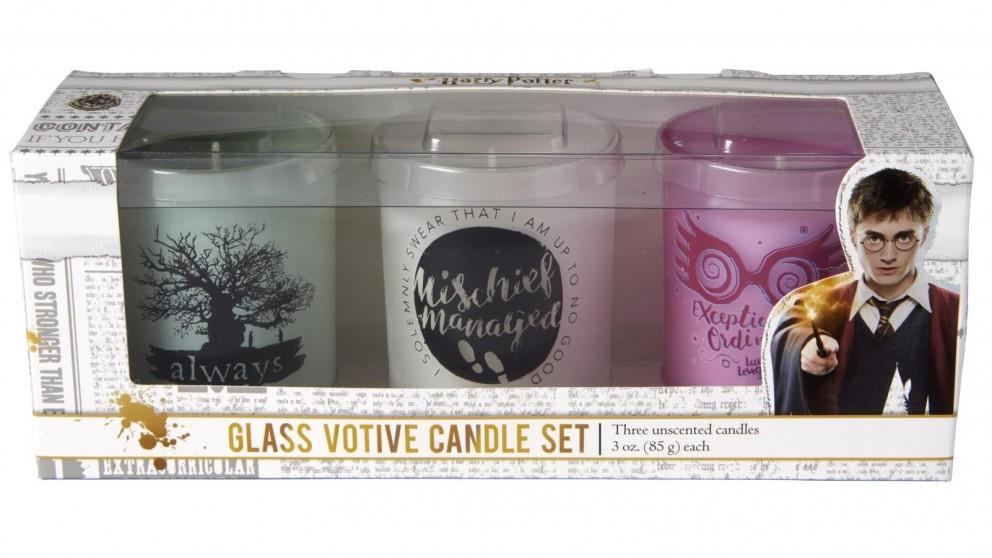 Glass Votive Candle Harry Potter Candle Set (Set of 3)