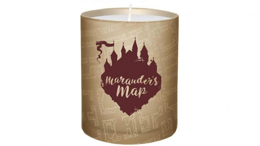 Large Glass Candle Marauders Map