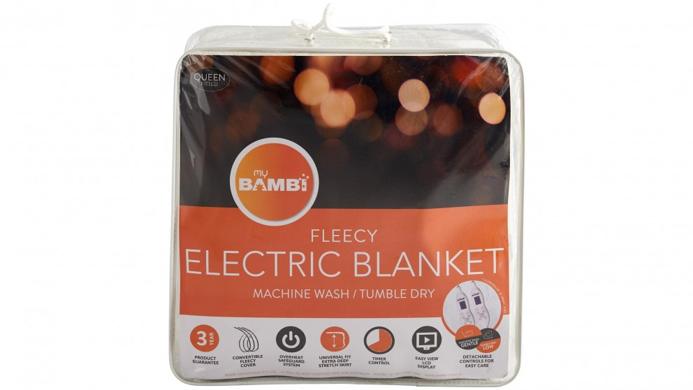 Bambi Moodmaker Cotton Cover Electric Blanket - Single