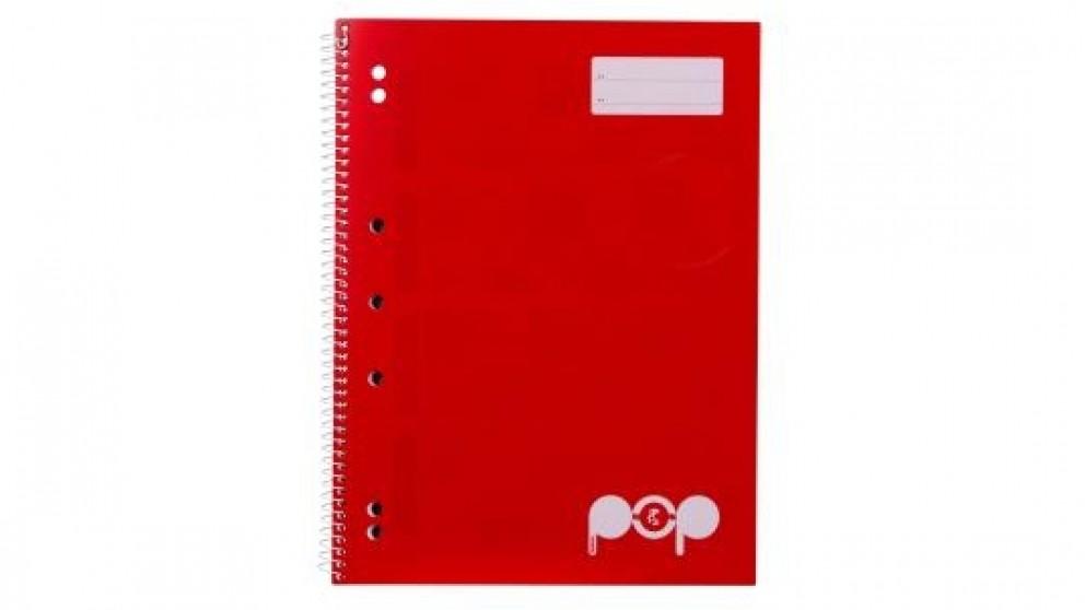 Spirax Pop P954 A4 Lecture Book - Red