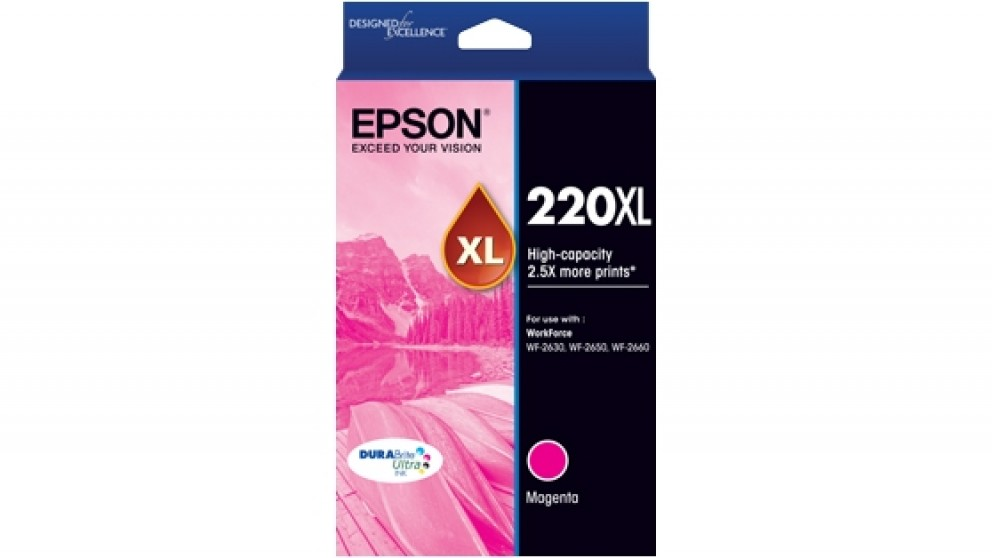 Epson 220XL DURABrite Ultra High Capacity Ink Cartridge - Magenta