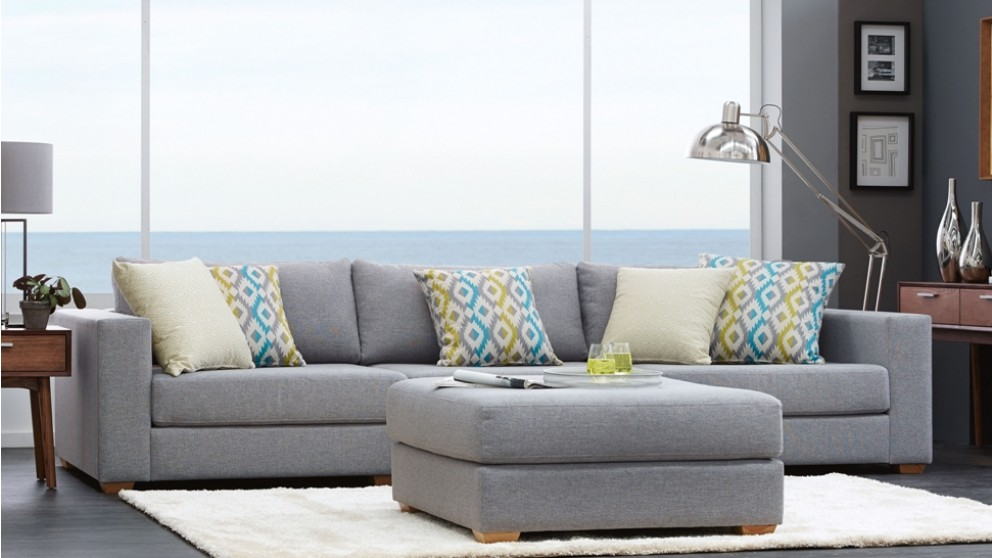 Buy casper 3 seater fabric sofa harvey norman au for Outdoor furniture harvey norman
