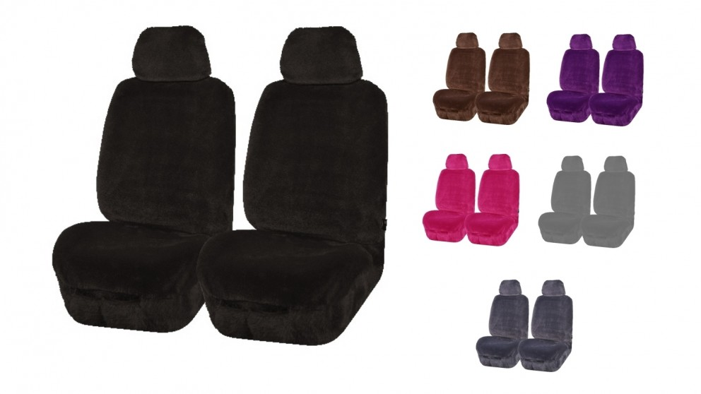 Faux Fur Mink Seat Cover Fronts Only