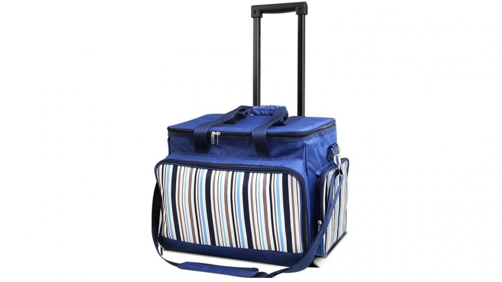 Alfresco 6 Person Picnic Trolley Set - Blue