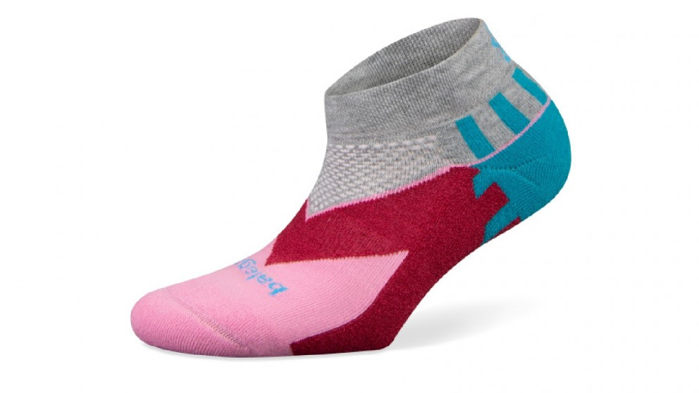Balega Enduro V-Tech Low Cut Grey/Pink Socks - Small