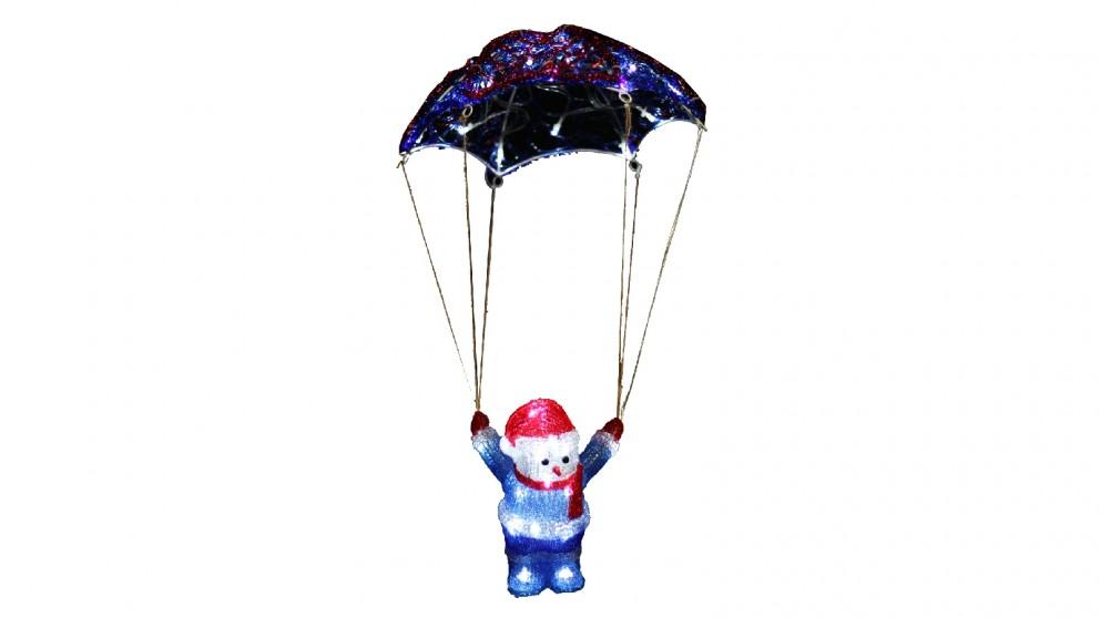 Lexi Lighting Acrylic Parachuting Snowman - 60cm
