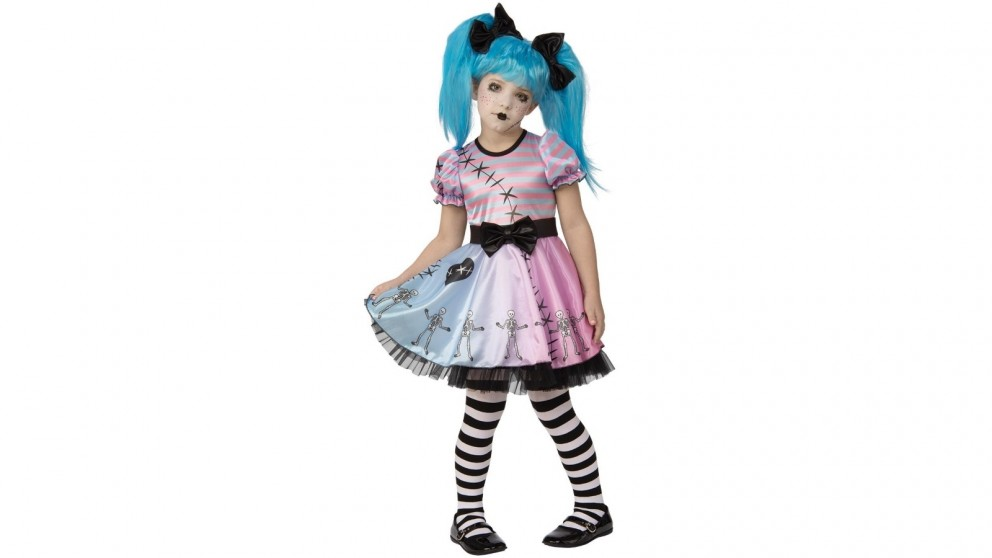 Little Blue Skelly Girl Costume