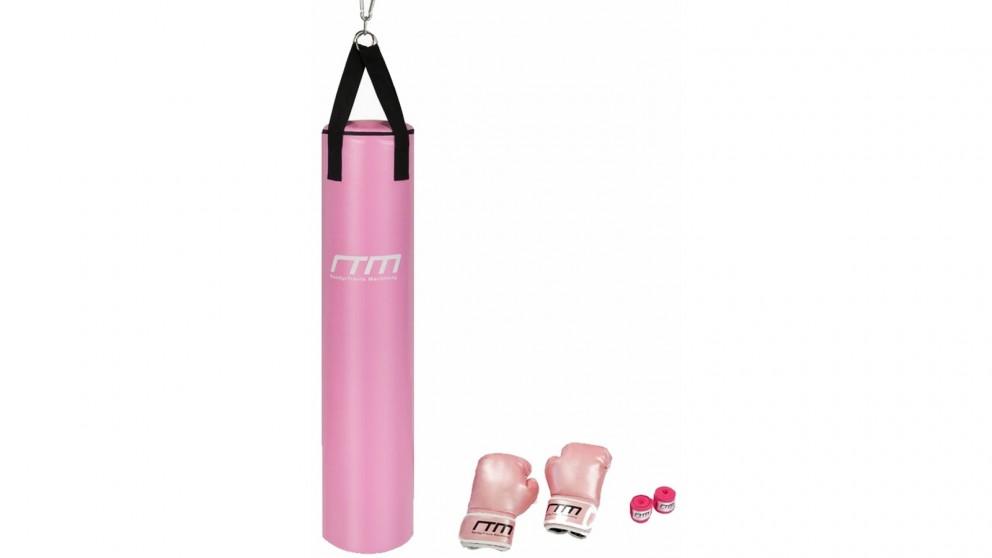 Serrano 70lb Red Heavy Bag Kit Punching Boxing Bag Gloves Hand Wraps