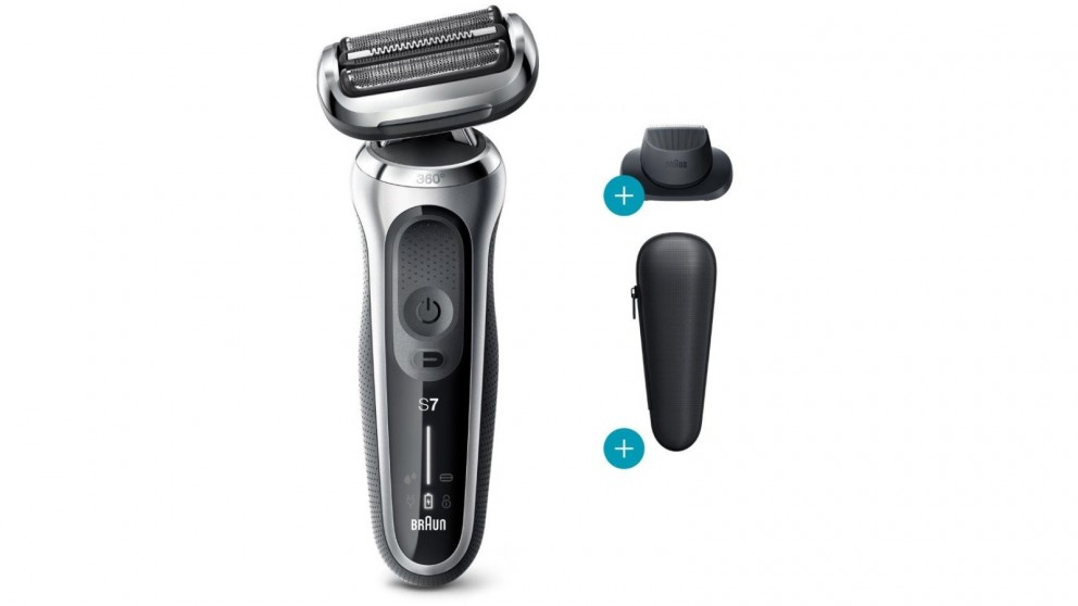 Braun Series 7 70-N1200s Wet & Dry Electric Shaver with Precision Trimmer - Silver