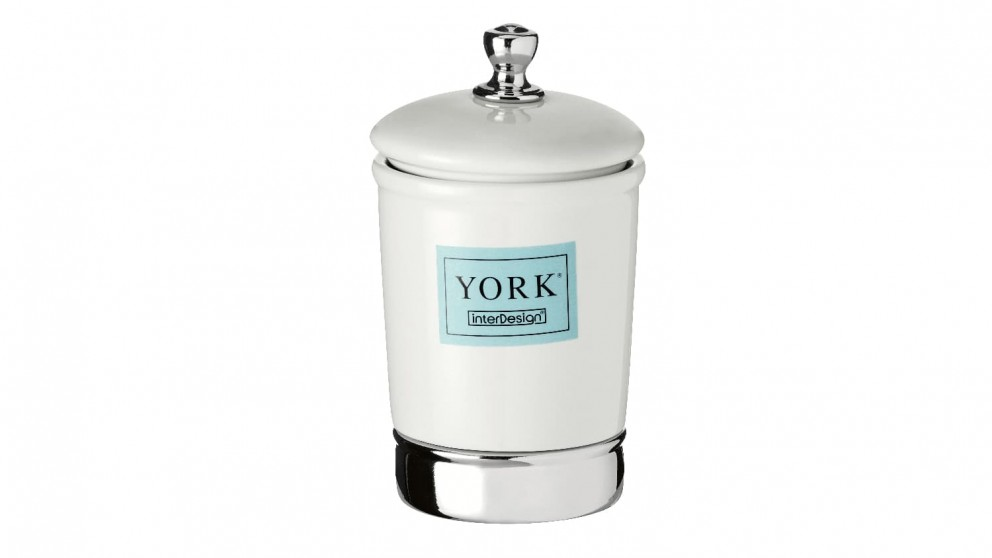York Tall Canister - White