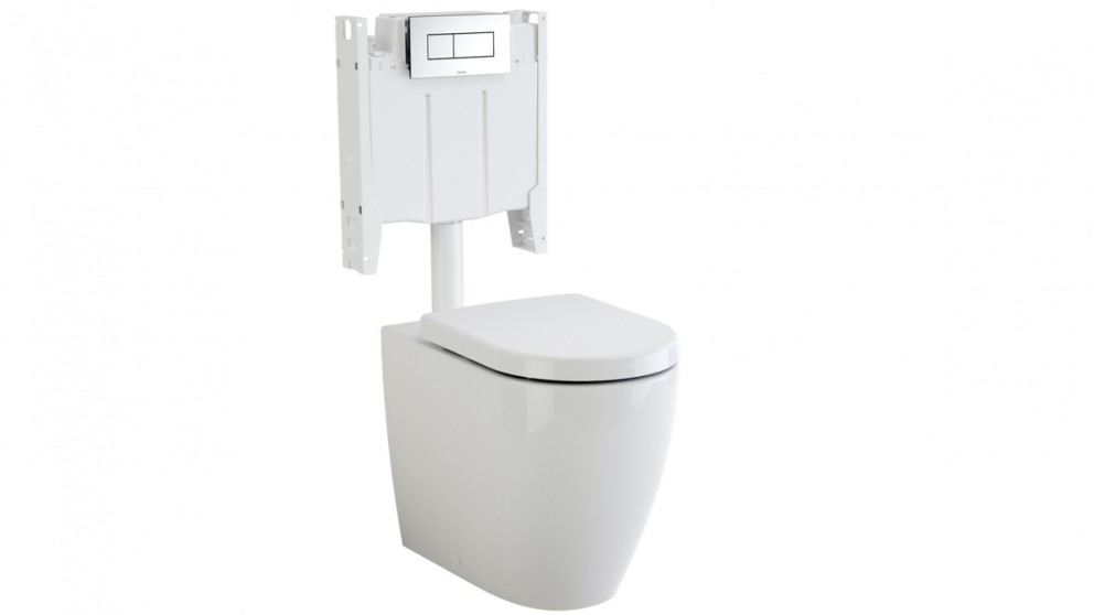 Caroma Urbane Cleanflush Wall Faced Invisi Series II Soft Close Toilet Suite