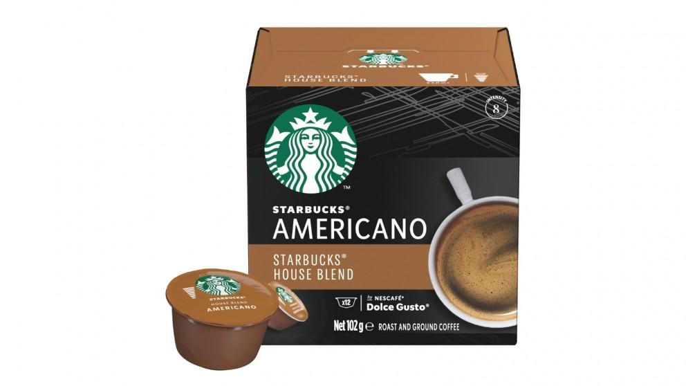 Starbucks by Nescafe Dolce Gusto 12 Capsule - Americano House Blend Medium Roast