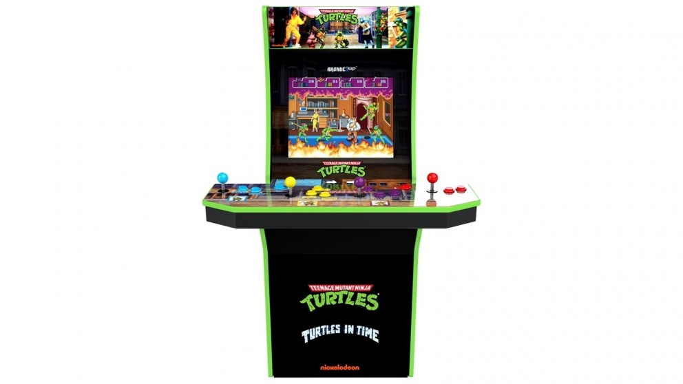 Arcade1Up Teenage Mutant Ninja Turtles 4 Player Arcade Cabinet with Riser