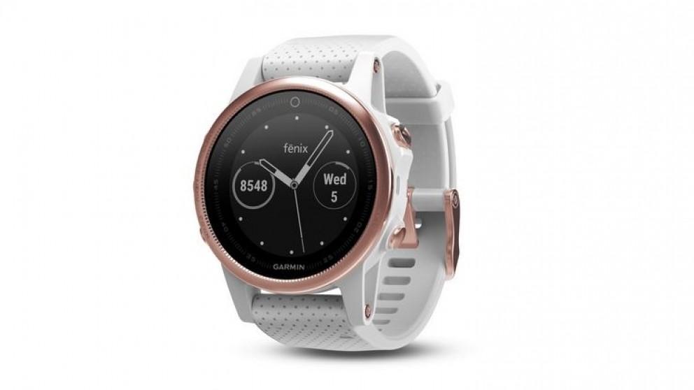 Garmin Fenix 5S GPS Watch - Rose Goldtone Sapphire