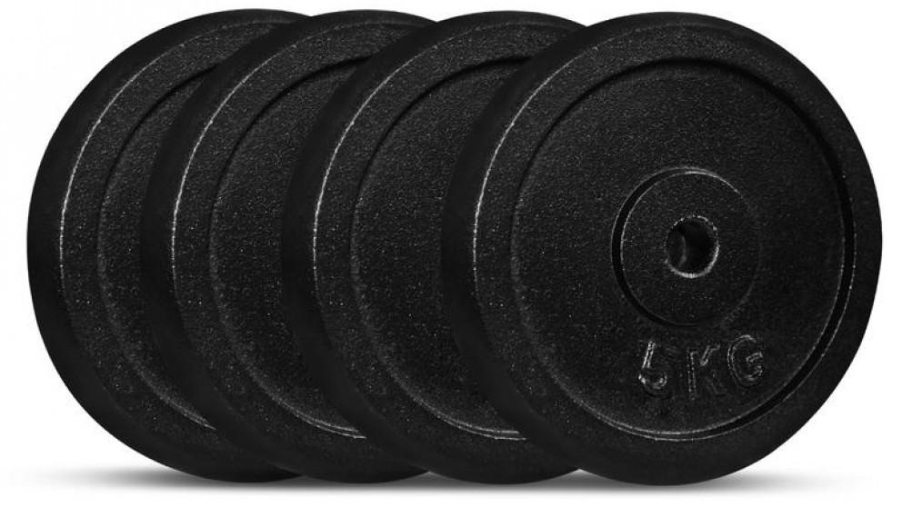 Cortex 5kg Cast Iron Plates - 4 Pack