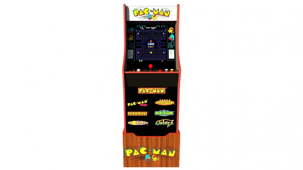 Arcade1Up Pac-Man 40th Edition Arcade Cabinet with Riser and Light Up Marquee