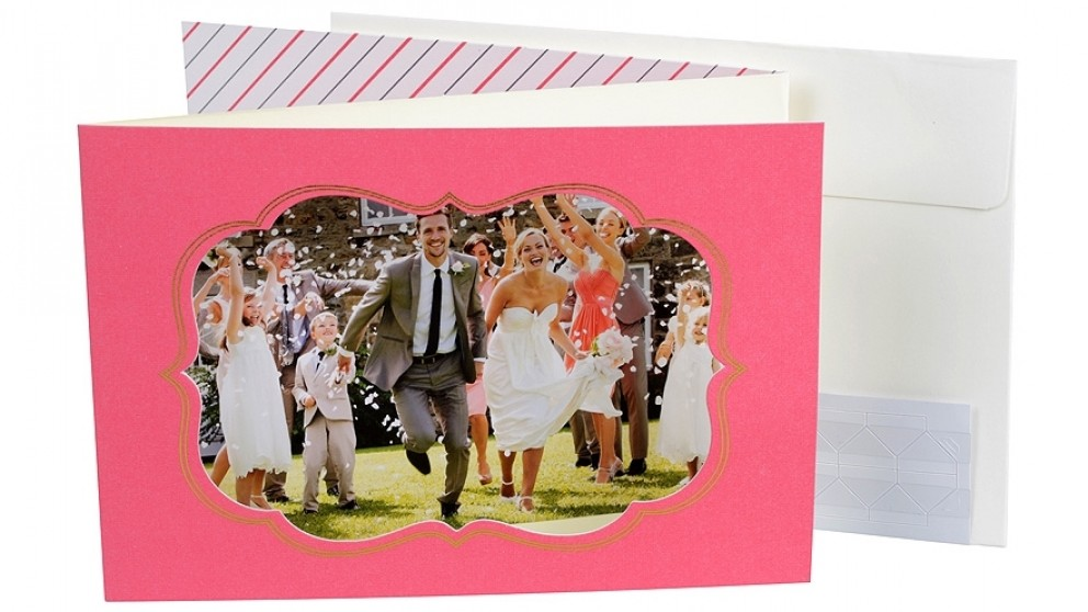 "Instax 6"" x 4"" Window Photo Frame - Pink"