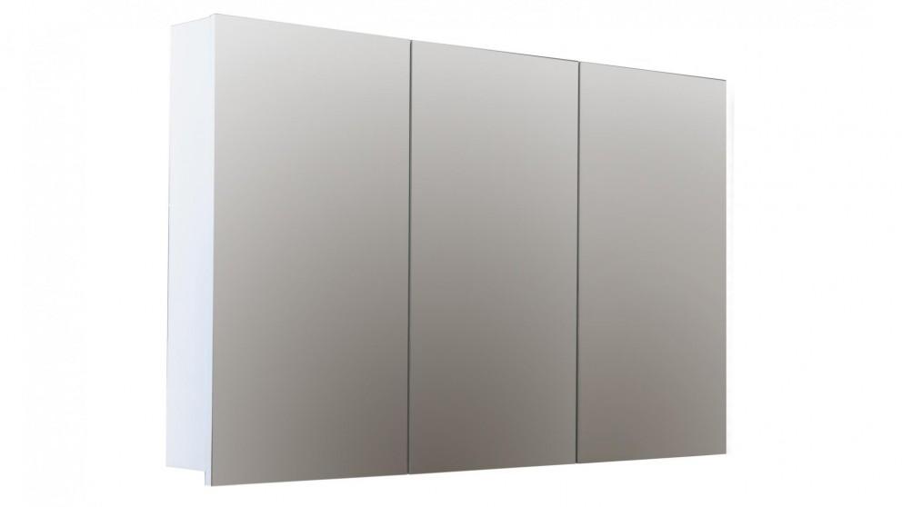 Buy forme logan 1200mm mirror shaving cabinet white for Bathroom cabinets harvey norman