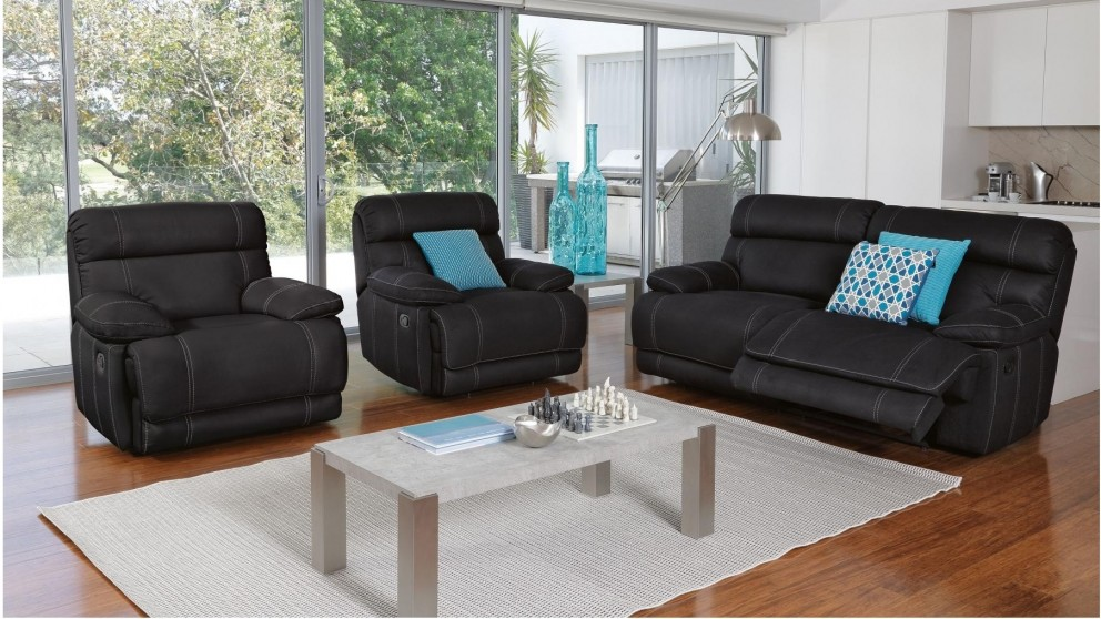 Coogee 3 Piece Fabric Recliner Lounge Suite