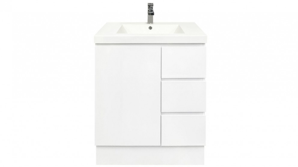 Forme Fifth Avenue Right Side Drawer 750mm Free Standing Vanity - Polymarble