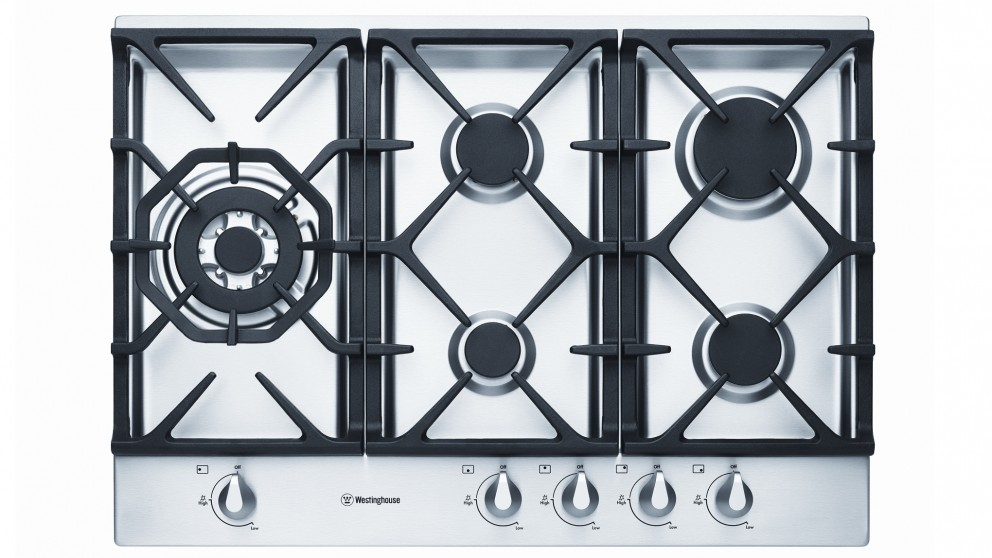 Westinghouse 750mm 5 Burner Gas Cooktop   Stainless Steel