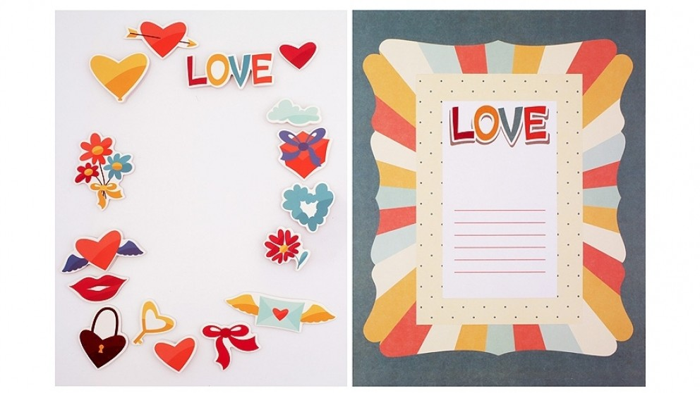 Instax Frame Decoration Kit - Hearts