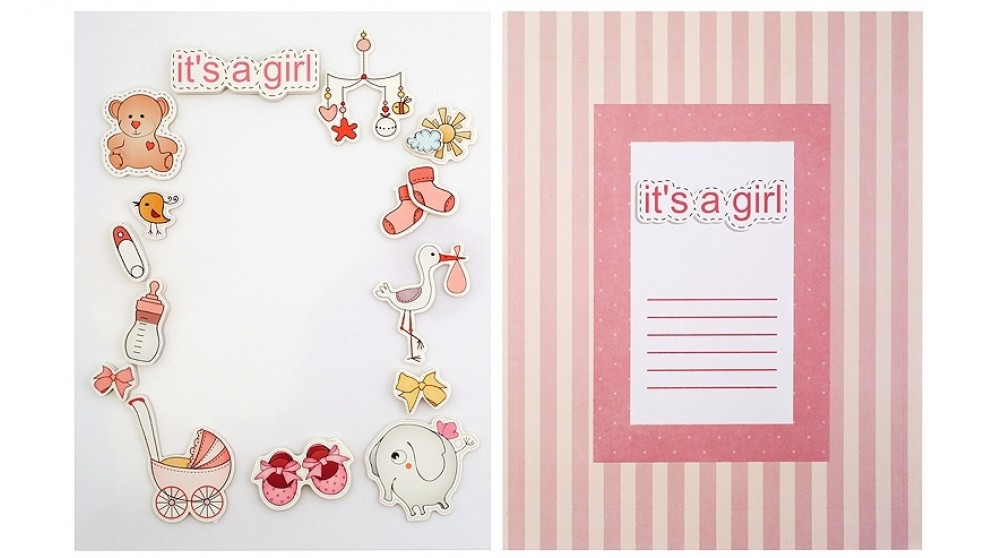 Instax Frame Decoration Kit - Baby Girl