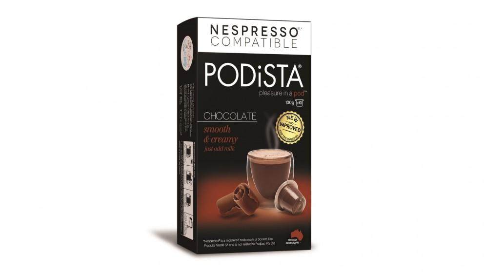 PODiSTA Hot Chocolate Capsules - 10 Pack