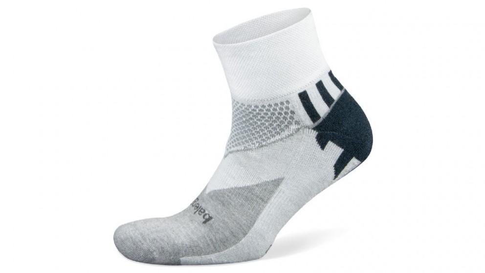 Balega Enduro V-Tech Quarter White Socks - Large