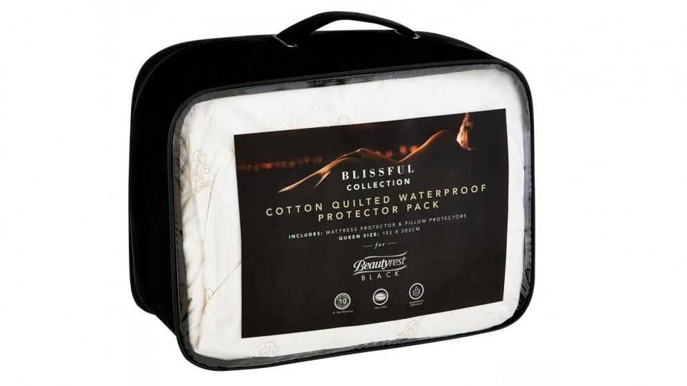 Beautyrest Black Blissful Cotton Mattress Protector Pack - Queen