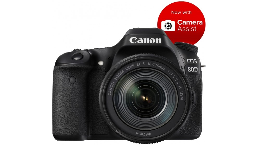 Canon 80D DSLR Camera with 18-135mm Lens Kit