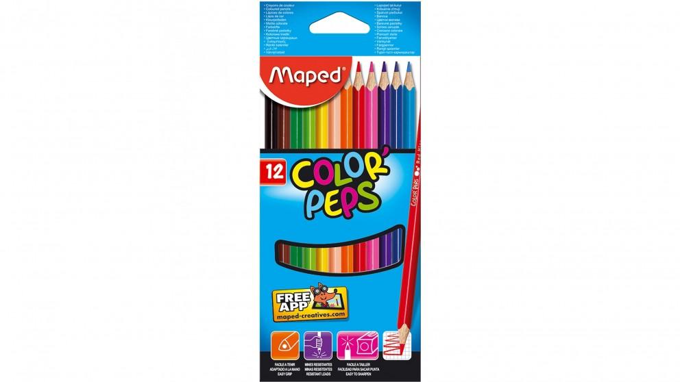 Maped Peps Colour Pencil - 12 Box