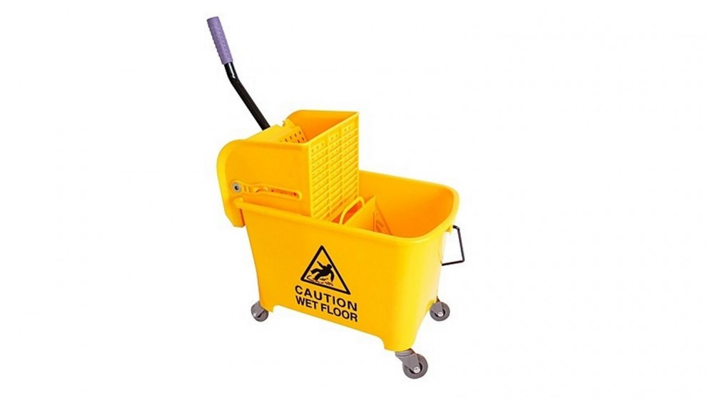 Serrano 20L Deluxe Mop Wringer Bucket Side Press Janitor Commercial Cleaning